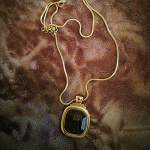 Chico's Gold Necklace with Reversible Pendant.